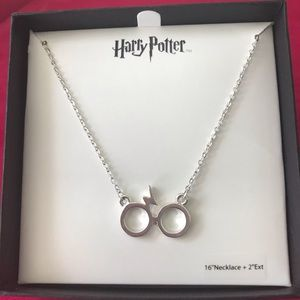 Harry Potter glasses and scar necklace. NWT